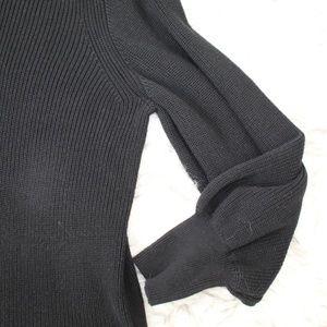Banana Republic Factory Sweaters - Banana Republic Black Chunky Knit Sweater Tunic